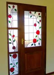 stained glass stained glass doors roses white river