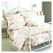 classy french toile bedding sets red quilt duvet cover blue comforter set country