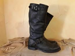 women s frye 77605 veronica slouch black leather boot size 7 for