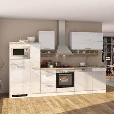 Komplettlösung Küche In Hochglanz Weiß Cuneo Mit Allen Geräten 14 Teilig
