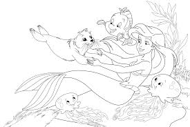 Small Picture Pretty Little Mermaid Coloring Pages Little Mermaid Coloring Pages