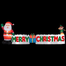 Merry Christmas Light Up Signs Outdoor 12 Ft Long Weather Resistant Inflatable Internal Lights