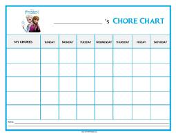 Frozen Chore Chart Free Printable Allfreeprintable Com