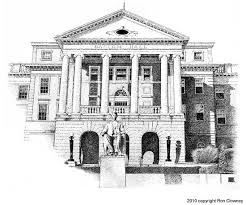architectural drawings of famous buildings. Bascom Hall, University Of Wisconsin Architectural Drawings Famous Buildings S