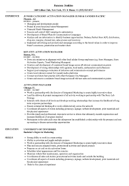 Category Development Manager Sample Resume Activation Manager Resume Samples Velvet Jobs 17