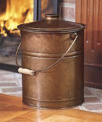 copper galvanized ash bucket