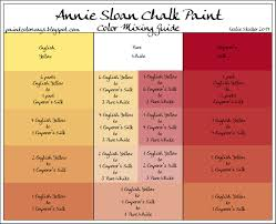Coral Paint Color Chart Annie Sloan Chalkpaint Mix To Make New Colors Many Different