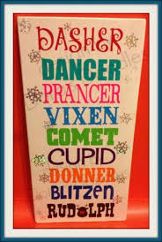 Fun Holiday Sign With Santas Reindeer On By Dorasdoodles On