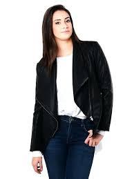 bb dakota faux leather jacket with knit jack by