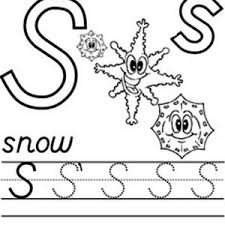 Small Picture Capital Letter S Coloring Page for Preschool Kids Bulk Color