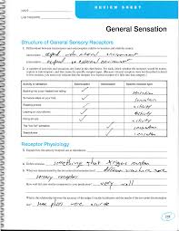 Sensation Chart General Sensation Solution Manual Anatomy And Physiology I