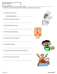 Collections of Spanish To English Translation Worksheets, - Easy ...