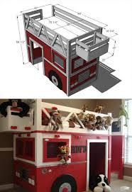 diy kids loft bed. Fire Truck Bed Playhouse Diy Kids Loft Bed