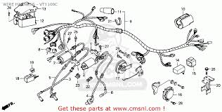 honda vtc shadow s usa california wire harness wire harness vt1100c schematic
