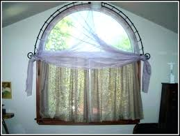 half curtain rod