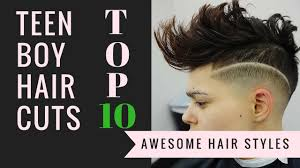 Boy Teen Hair Style top 10 teen boys haircuts 2016 youtube 4671 by wearticles.com