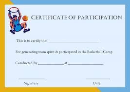 Basketball Camp Certificate Template Barca Fontanacountryinn Com