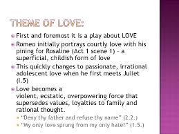 romeo juliet themes lesson love<br > 4