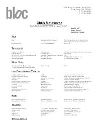 Resume Dance Resume Outline