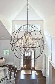 foucault orb chandelier inspirational s orb crystal and rustic iron chandelier lighting lamps for restoration hardware