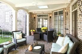 brick screen porch flooring options
