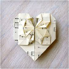 origami valentine s card