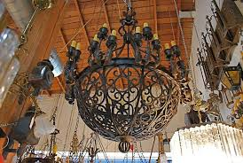 rod iron lighting. exceptional and very rare imposing 1920 wrought iron chandelier 2 rod lighting