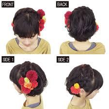 ショートヘアで人気の編み込みアレンジ成人式の髪型ヘアアレンジ