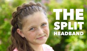 Headband Hair Style the split headband cute girls hairstyles youtube 4072 by wearticles.com