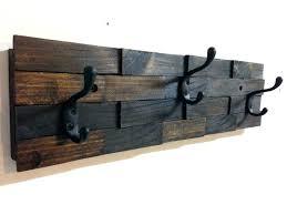 walnut coat rack iron coat hooks wall mounted wooden wall mounted coat hooks interior rustic dark