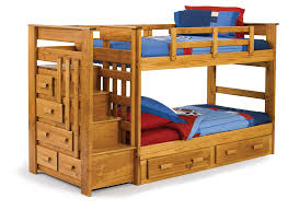 wooden bunk beds with stairs plus many drawers for saving blankets for twin  kids bedroom furniture