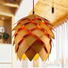 wooden pendant lighting pine cone chandeliers modern creative wood pendant light wooden pendant lighting style restaurant