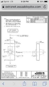 Corbin Russwin T30654 N555 Key In Lever 626 W Rose For Ed8000 Series L4 Cyl Rhr