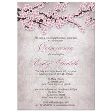 Quincenera Invitations Quinceañera Invitations Rustic Pink Cherry Blossom
