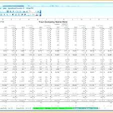 Financial Projections For Startup Business Plan Excel Template A