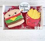 cheeseburger  cookies and  fries