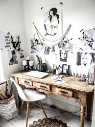 modern rustic office. This Is My Home Office, Eclectic Workspace, White Walls, Black And Prints, Vintage Desk, Eames Chair, Sukha Beads. It A Mix Of Modern Rustic, Rustic Office