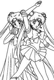 Small Picture Cute Tsukino Usagi Sailor Moon Coloring Page Color Luna Anime