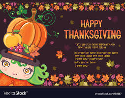 Thanksgiving Greeting Card Royalty Free Vector Image
