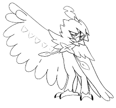 Small Picture Coloring page Pokemon Sun and Moon Decidueye 65