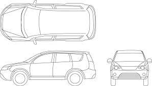 車 平面図 イラスト 子供と大人のための無料印刷可能なぬりえページ