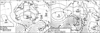 How To Read A Synoptic Chart Australia Bureau Of Meteorology Synoptic Charts For Two Instances