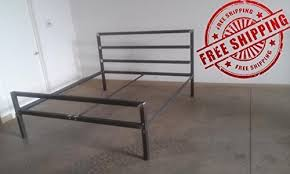 Amazon.com: Tall Headboard Style Metal Bed Frame - Twin/Full/Queen ...