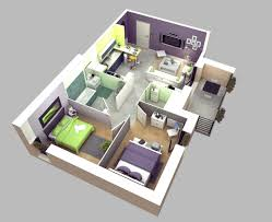 Small 2 Bedroom Homes For 50 3d Floor Plans Lay Out Designs For 2 Bedroom House Or Apartment