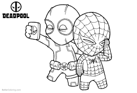 Deadpool Coloring Pages Print And Color Com Viettiinfo