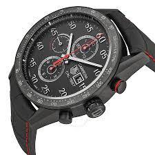 tag heuer carrera 1887 chronograph automatic black dial black tag heuer carrera 1887 chronograph automatic black dial black leather men s watch car2a80fc6237