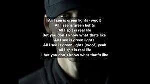 All I See Is Green Lights Nf Green Lights Lyrics
