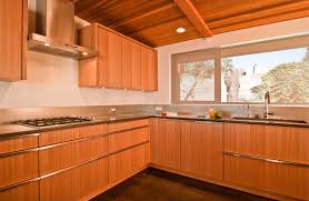 dignified pine wooden ceiling lighting over pine modern kitchen cabinets in l shape kitchen designs