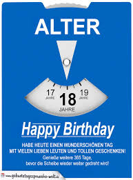 Geburtstagskarte Als Parkscheibe Zum 18 Geburtstag
