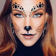 cat makeup with rhinestones